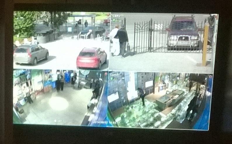 Видеонаблюдение для автошколы на 4 камеры